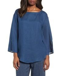 Eileen Fisher Woven Organic Linen Top