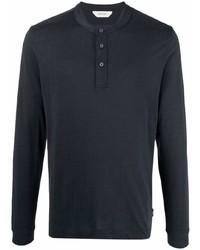 Z Zegna Buttoned Long Sleeve T Shirt