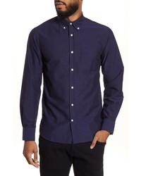 Officine Generale Antime Slim Fit Solid Oxford Shirt