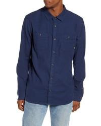Vans Banfield Iii Tailored Fit Blue Button Up Shirt