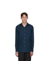 Ermenegildo Zegna Blue Cashmere Cashco Shirt