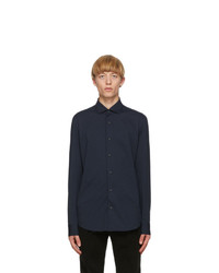 Z Zegna Blue Jersey Regular Fit Shirt