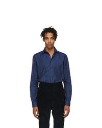 Etro Blue Paisley Shirt
