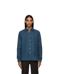 Ps By Paul Smith Blue Tailored Shirt