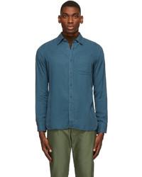 Tom Ford Blue Twill Leisure Shirt