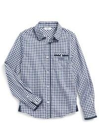 Boss Kidswear Gingham Poplin Shirt