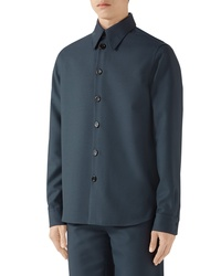 Gucci Button Up Military Drill Shirt
