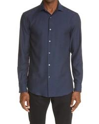 Ermenegildo Zegna Cashco Cotton Cashmere Button Up Shirt