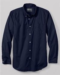 Eddie Bauer Classic Fit Legend Wash Poplin Shirt Solid