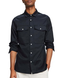 Scotch & Soda Clean Button Up Utility Shirt