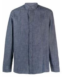 Tagliatore Collarless Cotton Shirt