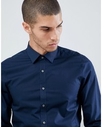 Calvin Klein Extra Slim Stretch Shirt Midnight Blue