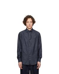 Giorgio Armani Indigo Edition Herringbone Shirt