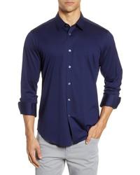 Bugatchi Knit Button Up Shirt