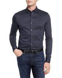 Michael Kors Michl Kors Textured Woven Sport Shirt Midnight