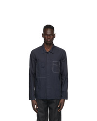 Maison Margiela Navy Gart Dyed Slim Shirt