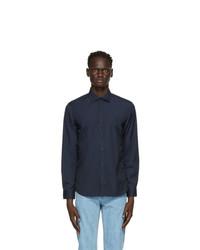Burberry Navy Monogram Motif Slim Fit Shirt