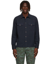 Ps By Paul Smith Navy Patch Pocket Shirt