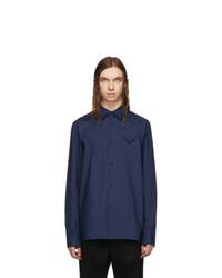 Bottega Veneta Navy Refined Light Cotton Poplin Shirt