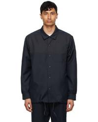 AïE Navy Twill Coach Shirt