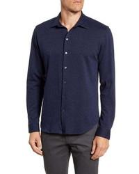 Robert Barakett Orillia Regular Fit Knit Button Up Shirt
