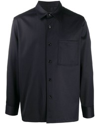 Theory Pointed Collar Long Sleeved Shirt