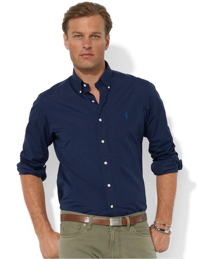 Polo ralph lauren shirts core custom fit broadcloath dress for Custom fit dress shirts