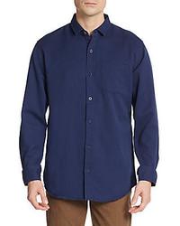 Saks Fifth Avenue Regular Fit Cotton Pique Sportshirt