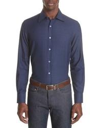 Canali Regular Fit Dot Dress Shirt