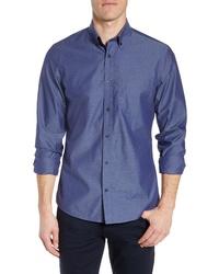 Nordstrom Men's Shop Regular Fit Non Iron Dobby Sport Shirt