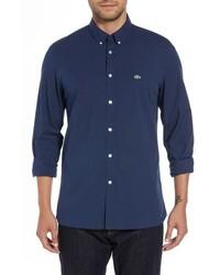 Lacoste Regular Fit Solid Poplin Sport Shirt