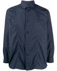 Issey Miyake Men Ruched Detail Long Sleeved Shirt