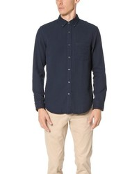 Slim button down double face shirt medium 775810