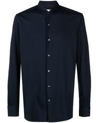 Loro Piana Spread Collar Long Sleeve Shirt
