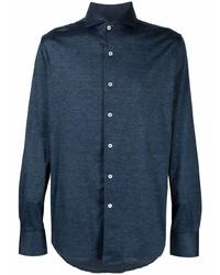 Canali Spread Collar Slim Fit Shirt