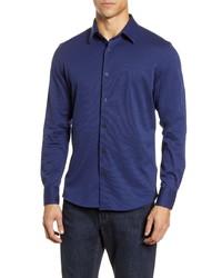Nordstrom Men's Shop Trim Fit Button Up Knit Shirt