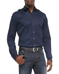 19a0c7a0666d Men's Navy Shirts by Gucci | Men's Fashion | Lookastic.com
