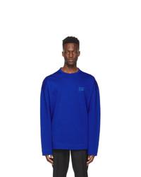 Juun.J Blue Embroidered Nouvelle Tendance Artwork Long Sleeve T Shirt