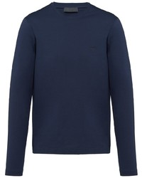 Prada Crew Neck Long Sleeved T Shirt