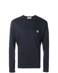 Stone Island Long Sleeve Logo T Shirt