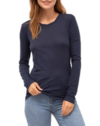 Stateside Long Sleeve Slub Cotton Tee
