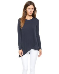 DKNY Long Sleeve Tee With Layered Front