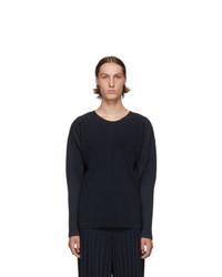 Homme Plissé Issey Miyake Navy Basics Long Sleeve T Shirt