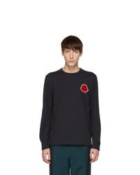 Moncler Navy Maglia Bell Long Sleeve T Shirt