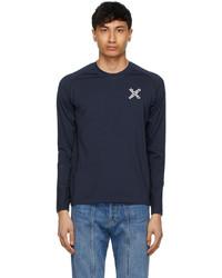 Kenzo Navy Slim Fit Sport Long Sleeve T Shirt