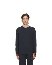 Paul Smith Navy Striped Long Sleeve T Shirt