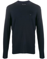 Emporio Armani Printed Logo Longsleeved T Shirt