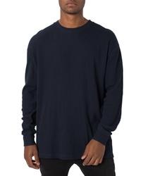 Zanerobe Rugger Oversize Waffle Knit Long Sleeve T Shirt