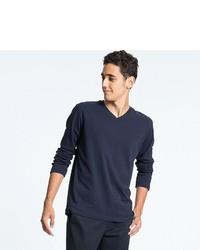 Uniqlo Soft Touch V Neck Long Sleeve T Shirt