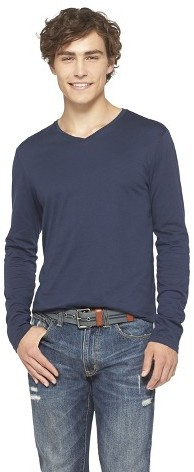 3eb00f4d Mossimo Supply Co Long Sleeve V Neck T Shirt, $16 | Target | Lookastic.com